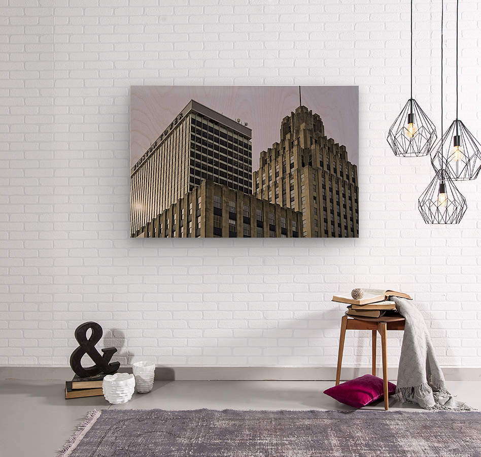 Winston Tower and Reynolds Building  Wood print