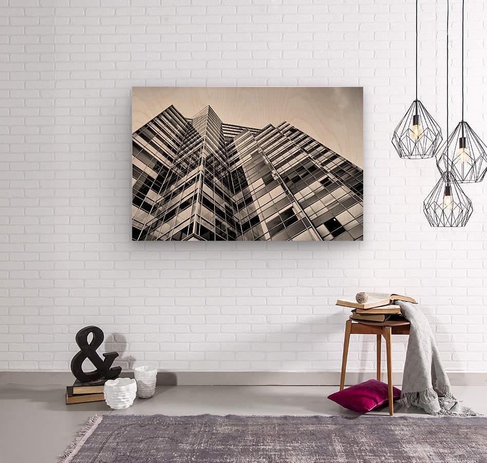 Glass Towers  Wood print