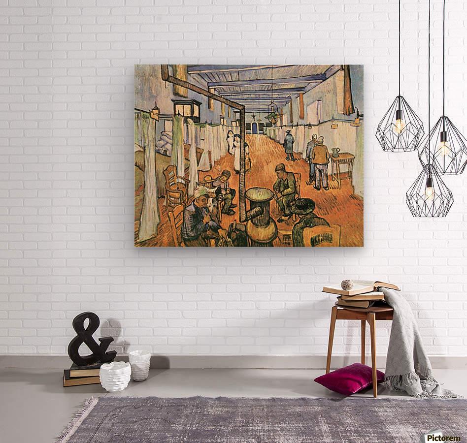 Dormitory in the Hospital in Arles by Van Gogh  Wood print