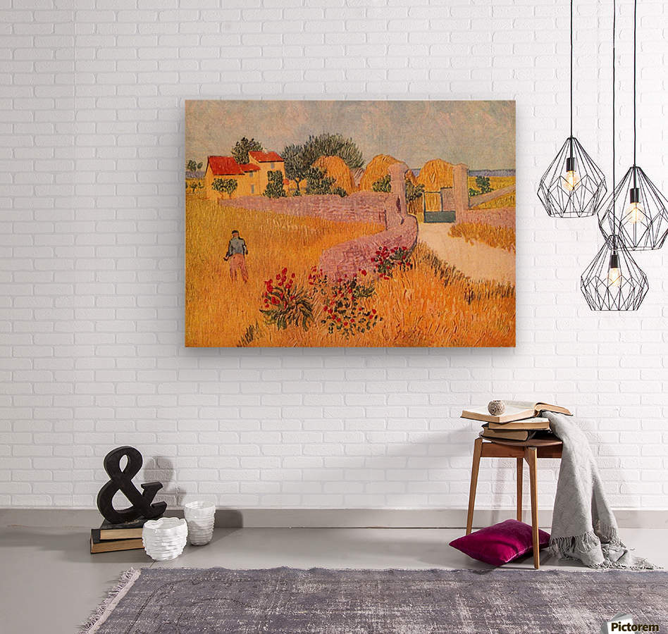Farmhouse in Provence by Van Gogh  Wood print