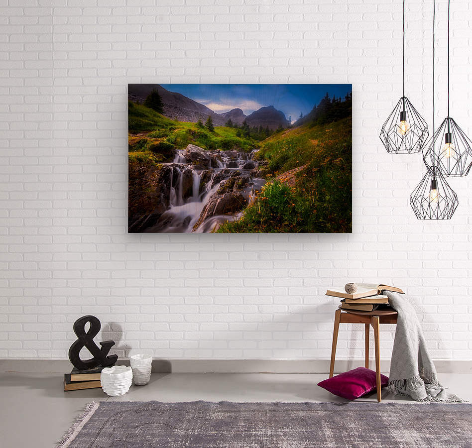 Chasing Waterfall   Wood print