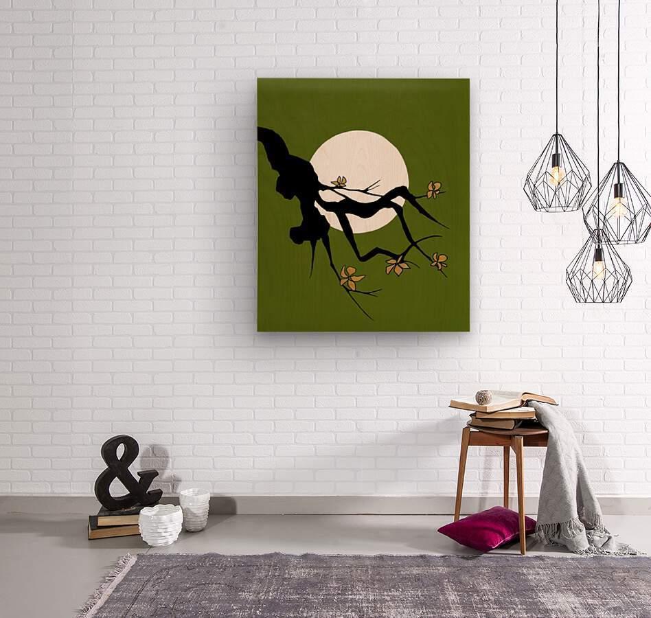 Asian Branch Icon  No.1  Wood print