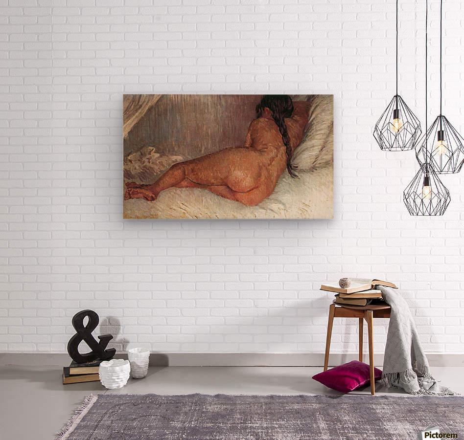 Female Nude by Van Gogh  Wood print