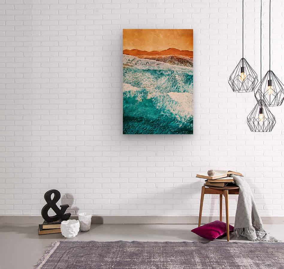 Tropical VI - Beach Waves II   Wood print