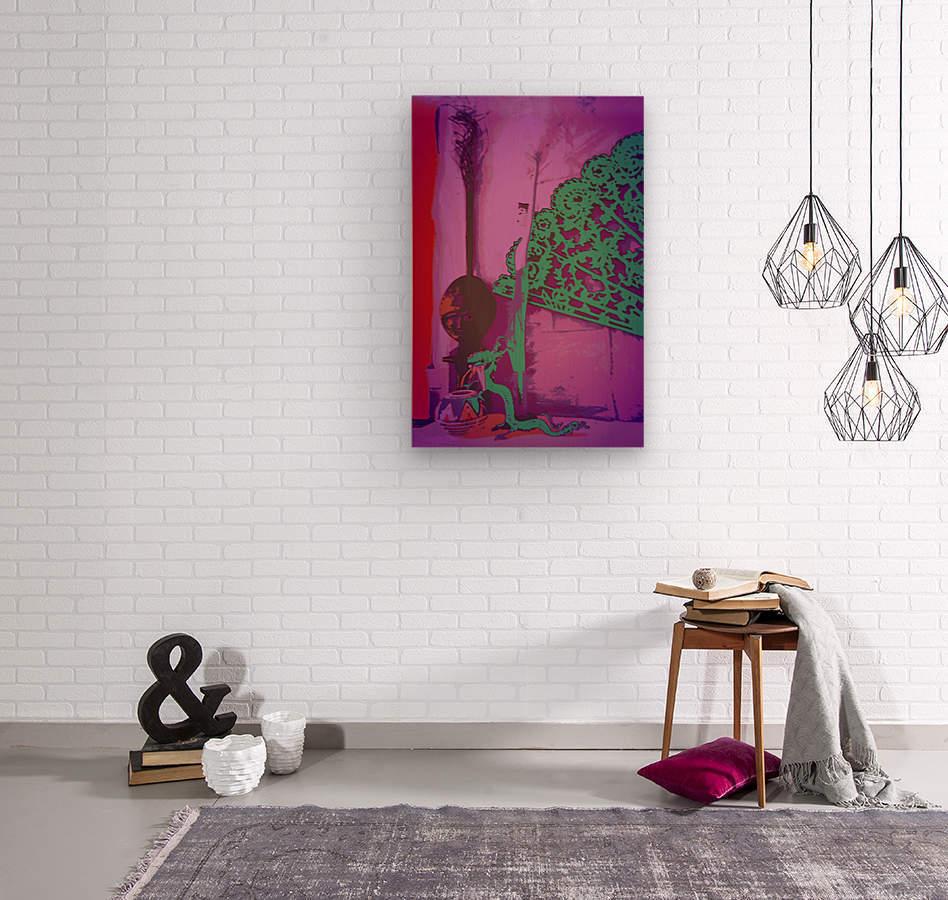 Altar to Unnamed Gods -- Purple & Verdigris  Wood print