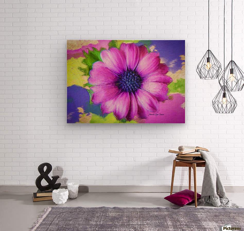 Purple Storm  Wood print