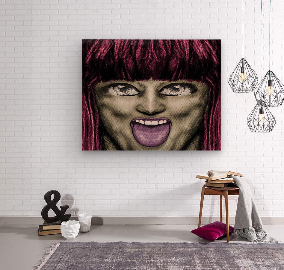 Daring Pop Teen Portrait  Wood print