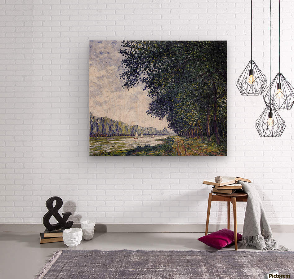 Canal of Moret, Winter Effect  Wood print