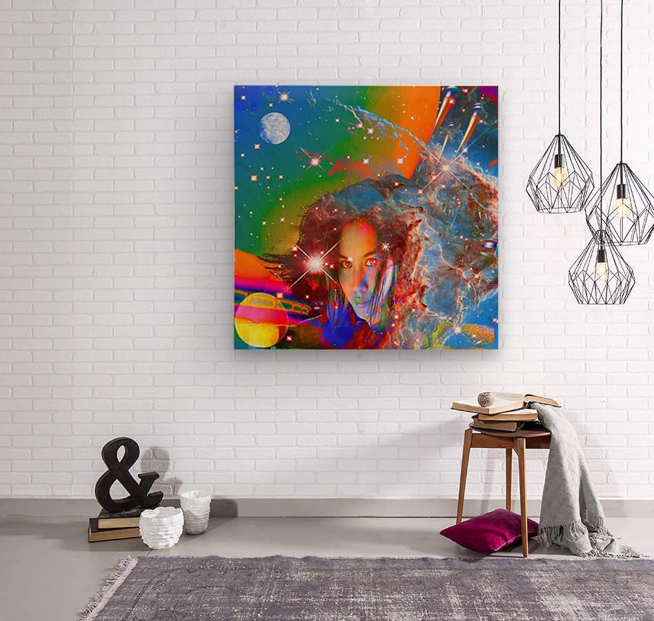 Cosmic Dream  Wood print