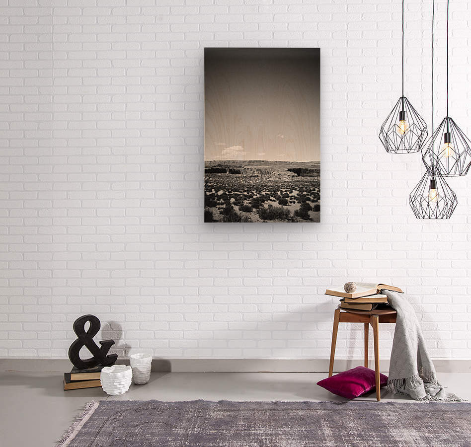 Saguaro Golden Hours  Wood print