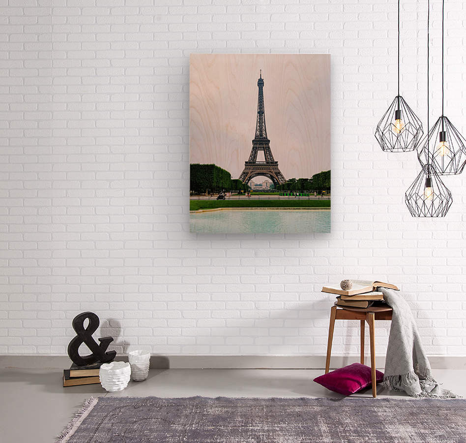 Eiffel from a distance  Wood print