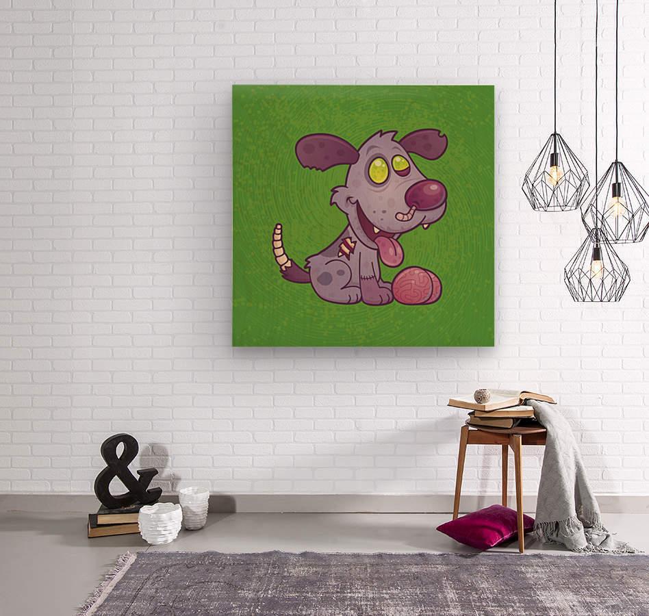 Zombie Puppy  Wood print
