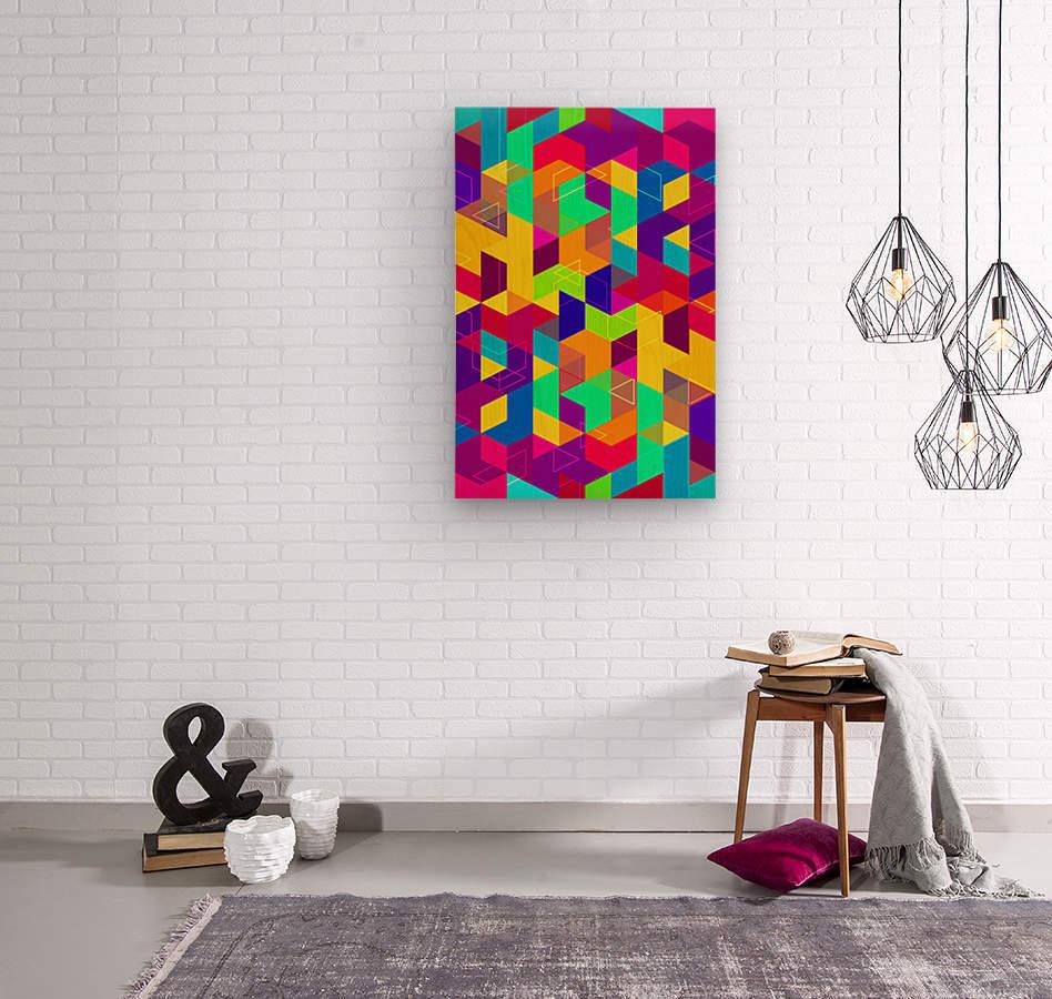 Vivid Pattern I  Wood print