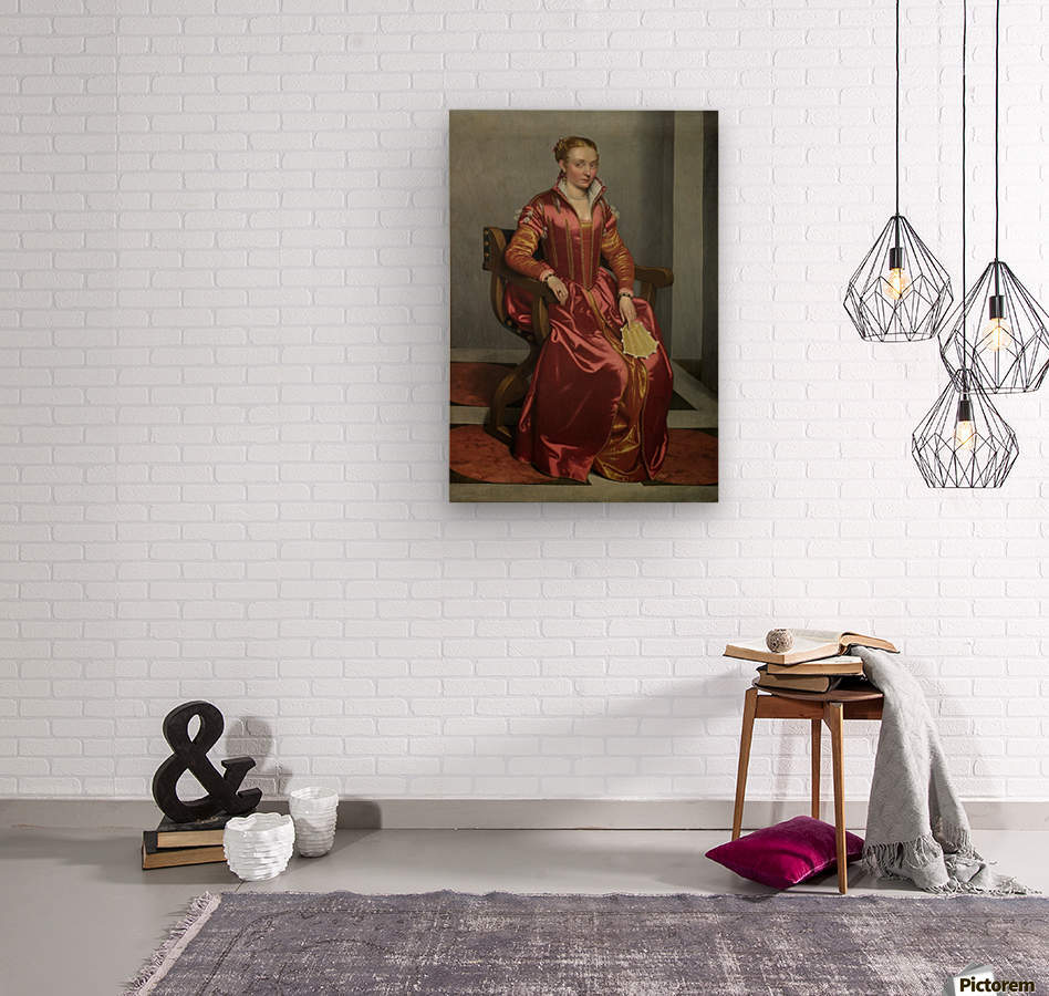 Portrait of a Lady ('La Dama in Rosso')  Wood print