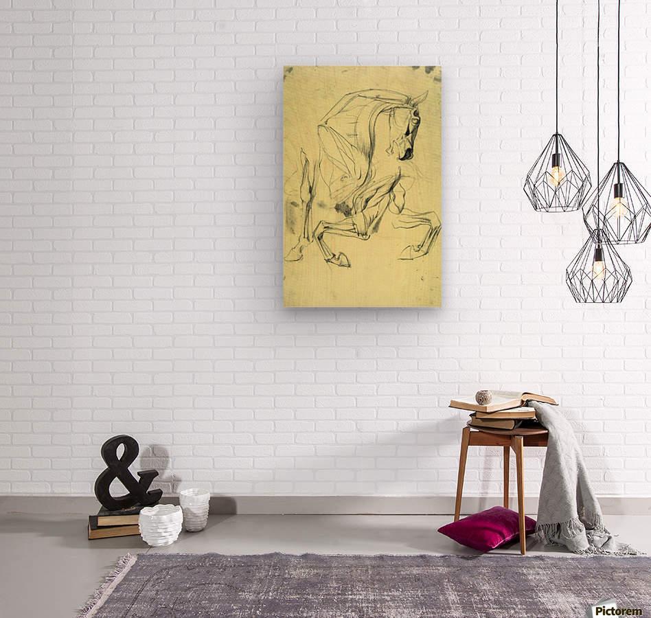 Horse study by Franz von Stuck  Wood print