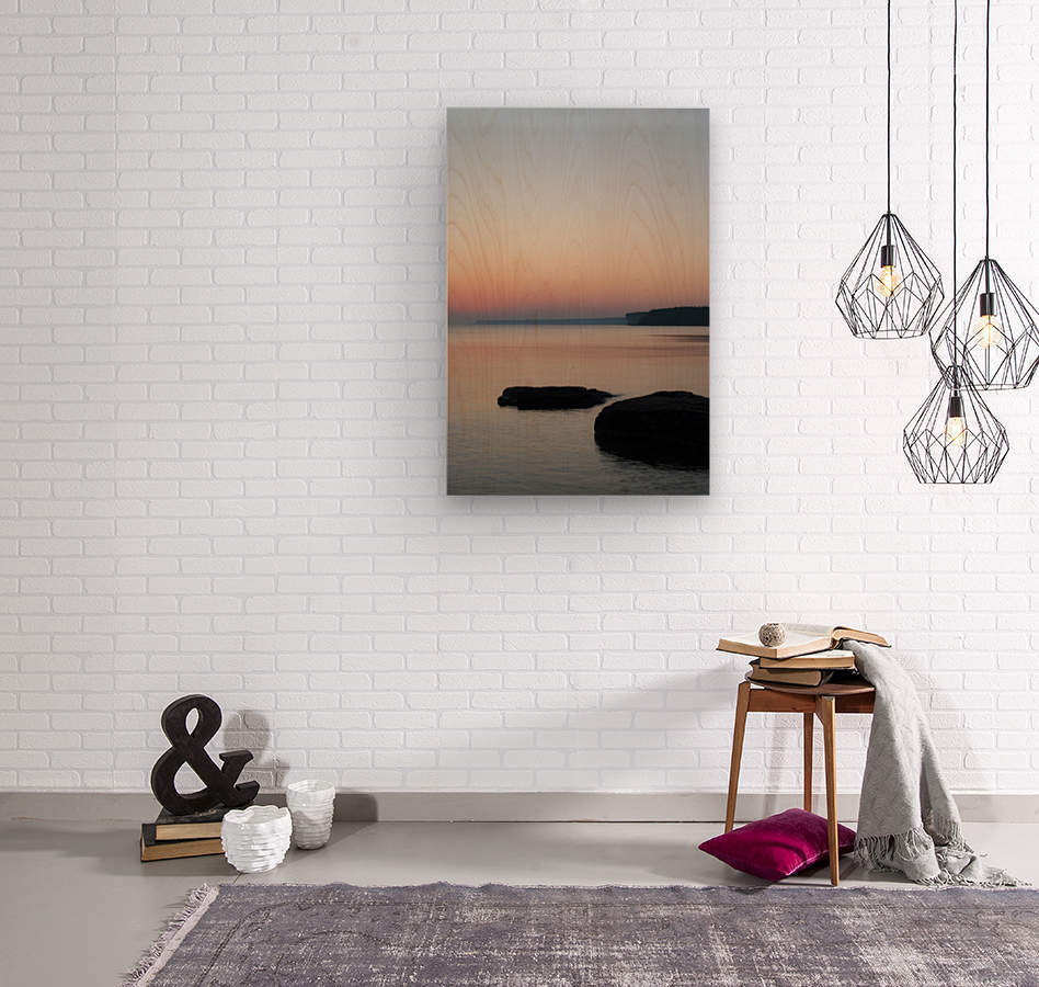 Huron Sunrise 2  Wood print