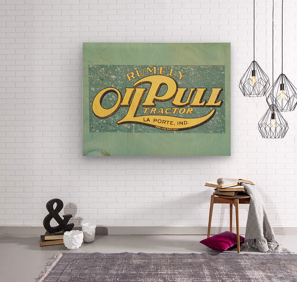 Rumely Tractor Oil Pull Sign  Wood print