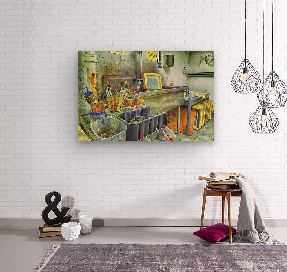 Paintbrushes  Wood print