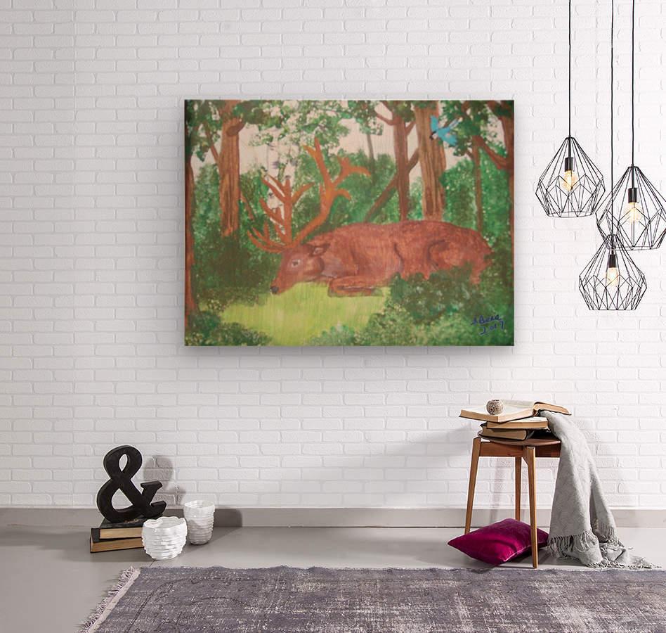Maine Elk  Wood print