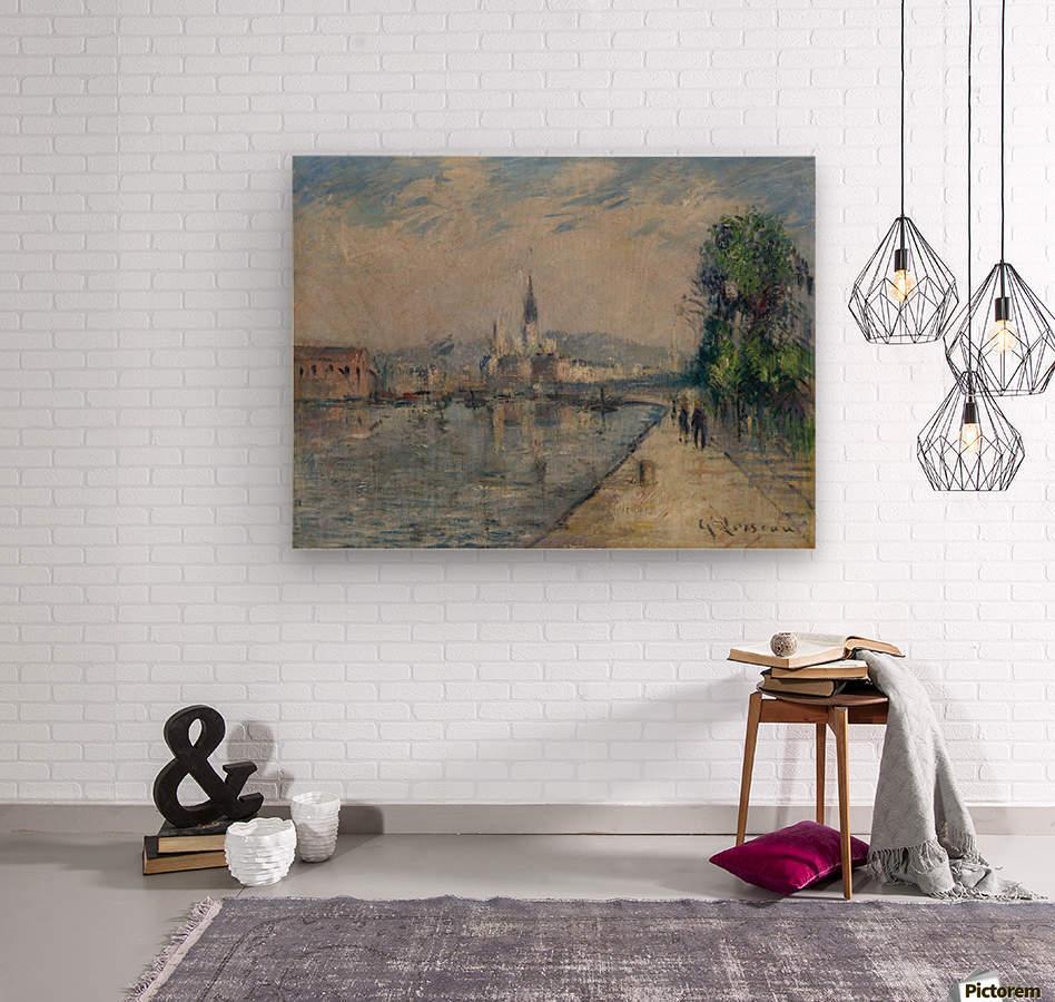 Rouen, Banks of the Seine  Wood print