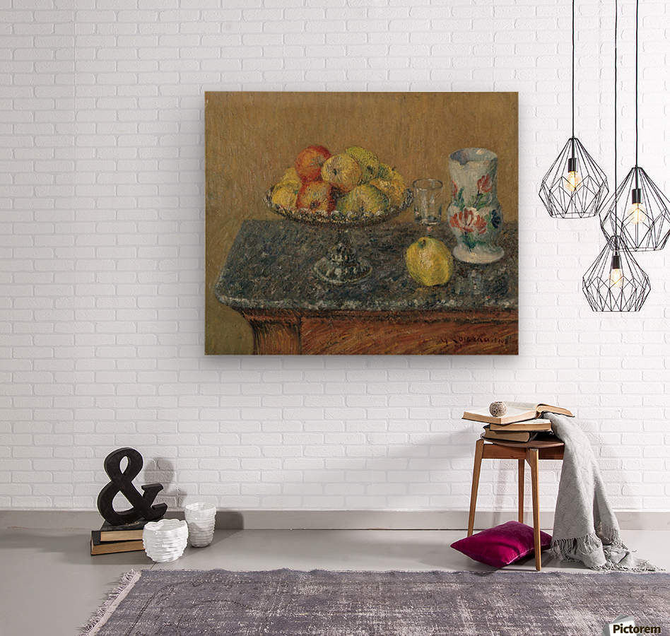 Fruit Bowl with Apples and a Jug  Wood print