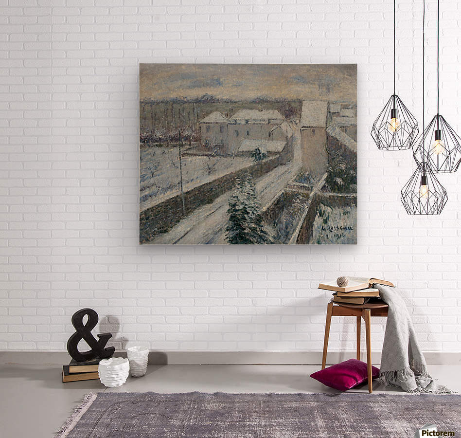 View of Triel under the Snow  Wood print