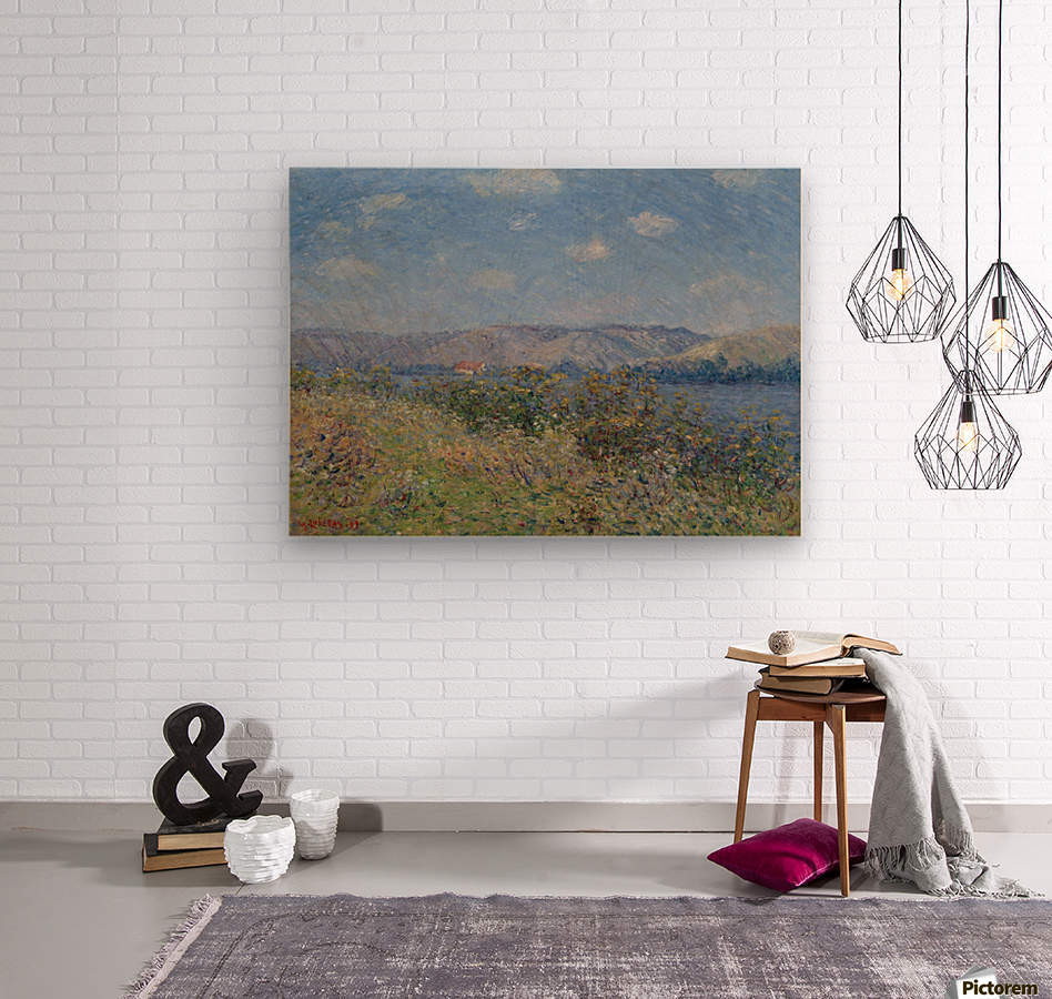 The Banks of the Seine, Tournedos-sur-Seine  Wood print