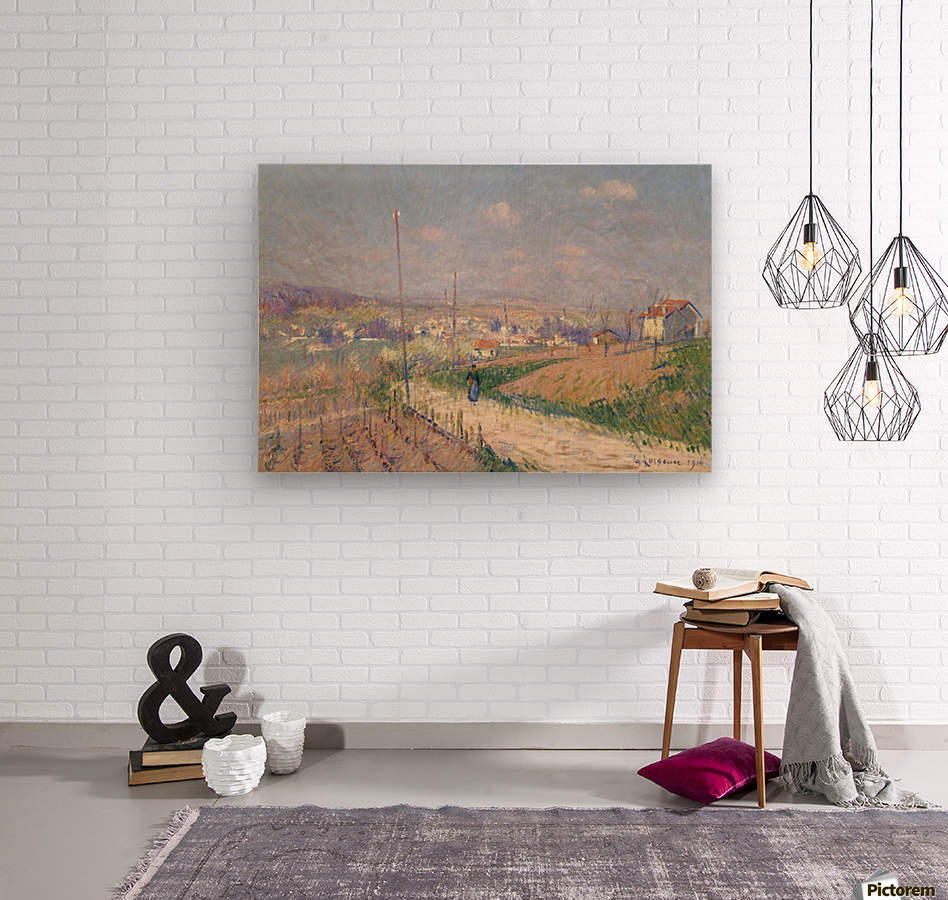 The Spring at Ile-de-France  Wood print