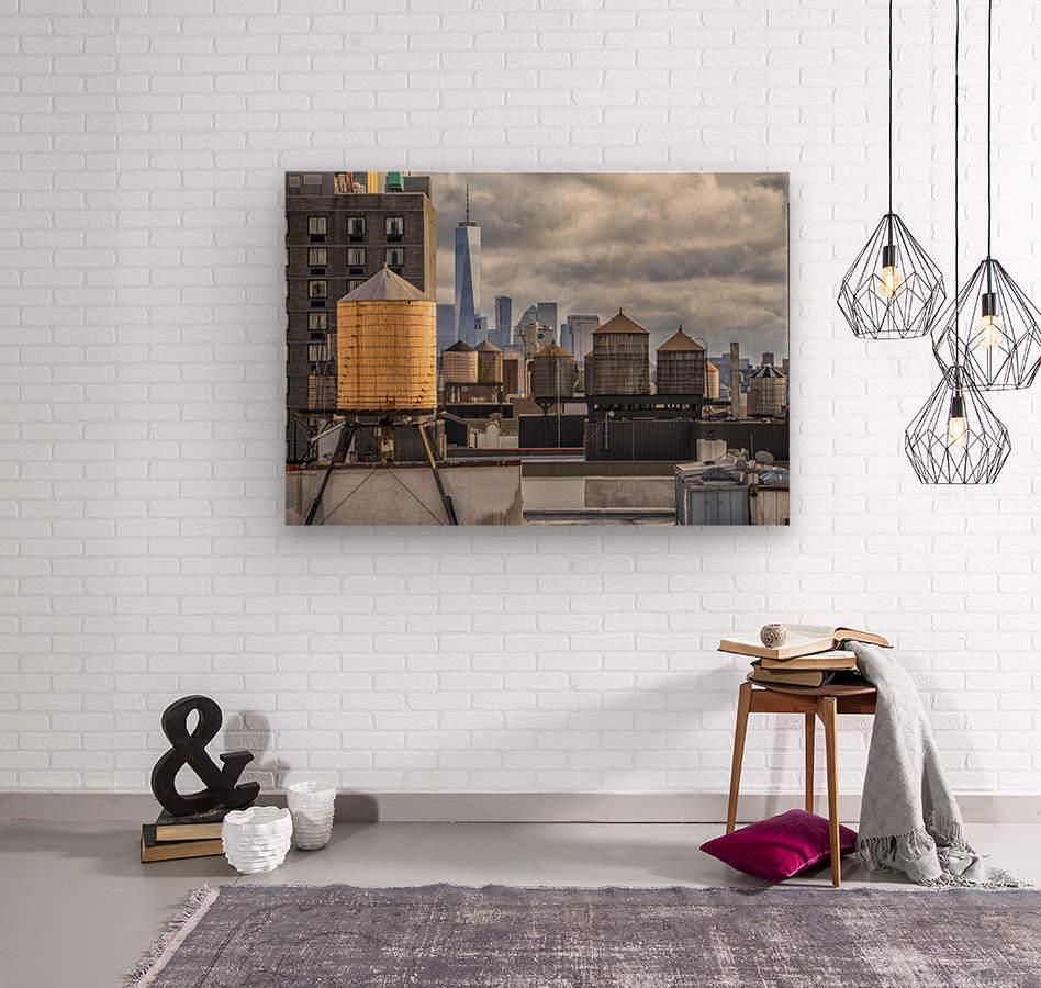Water Towers   Wood print