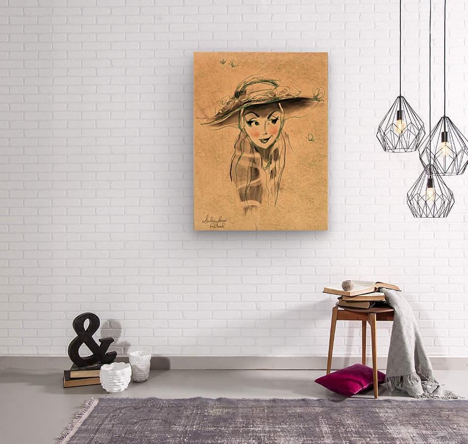 Madame  Wood print