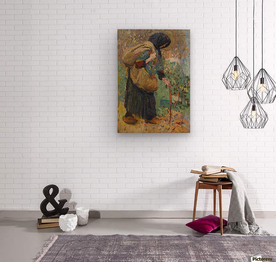 Old Peasant Woman  Wood print