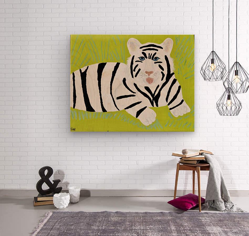 Jungle Warrior.Erin R.  Impression sur bois