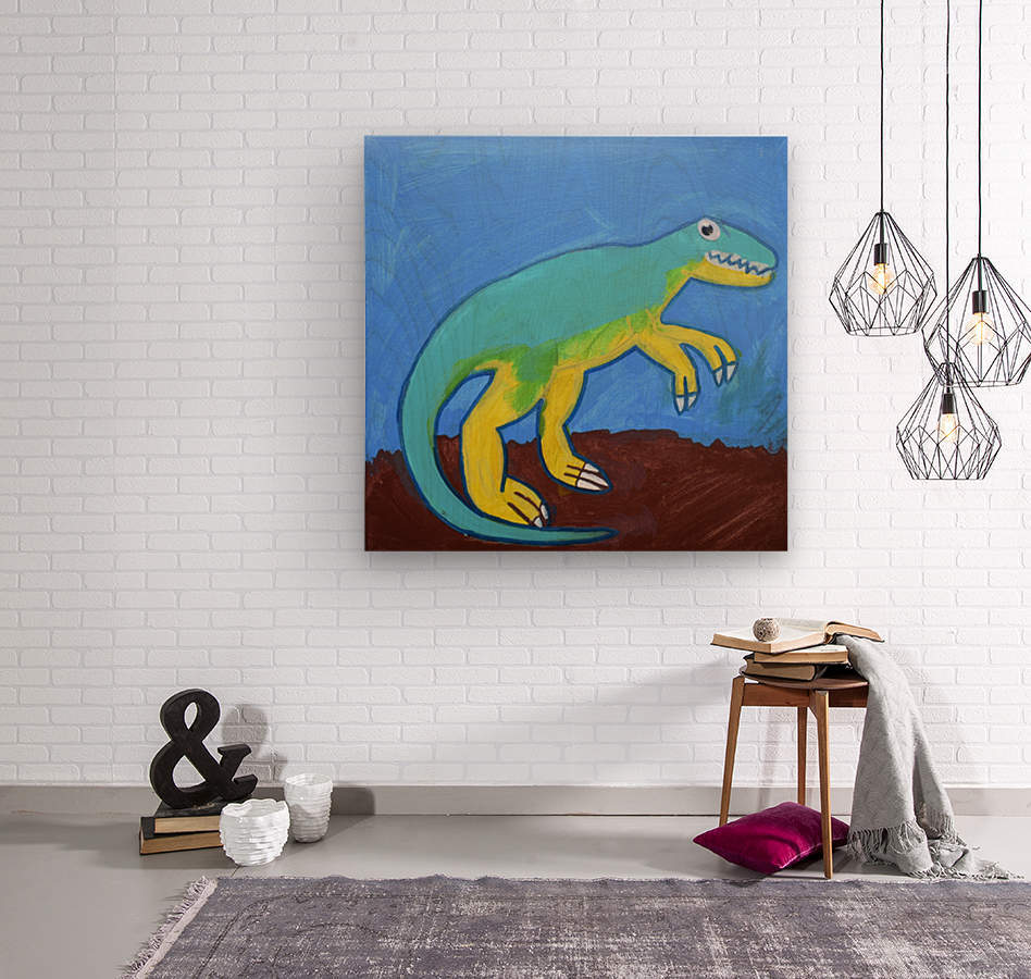 Dino. Dominic H  Wood print