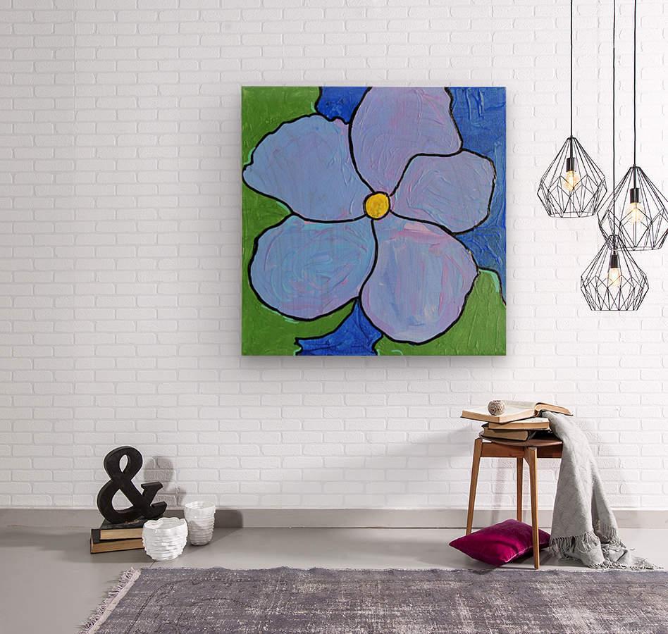 Purple Flower. Jessica A  Wood print