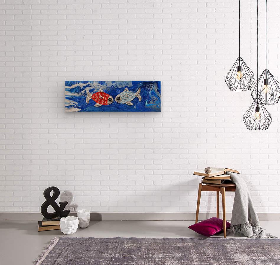 Fishing in Love. Lindsey D  Wood print