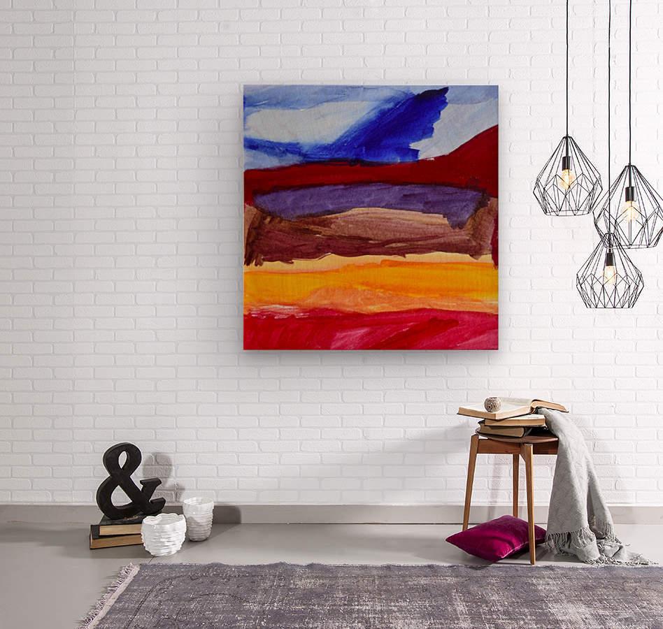 Fall Mountains. Anna B  Wood print