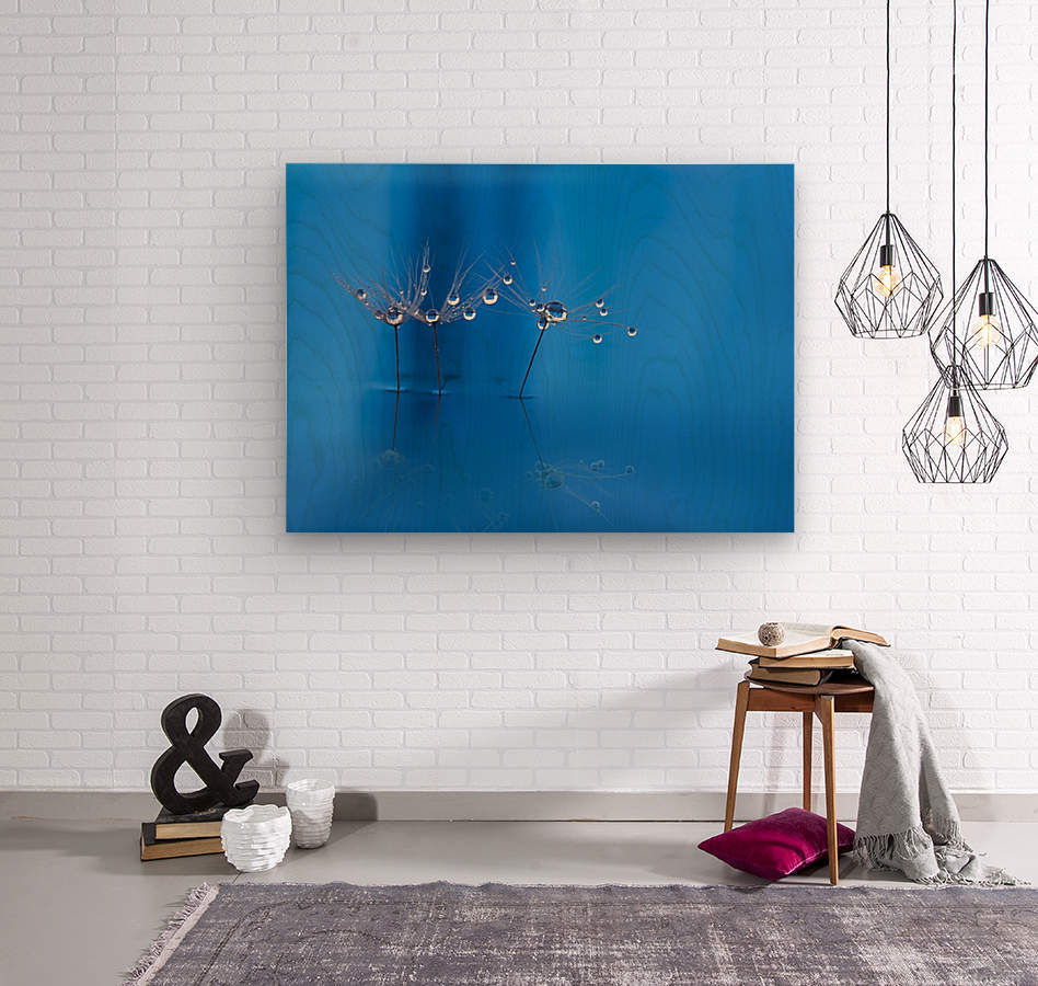 Blue fun  Wood print