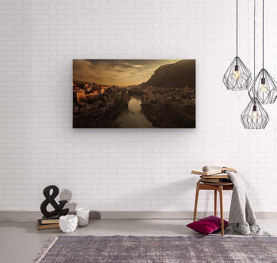 Mostar  Wood print