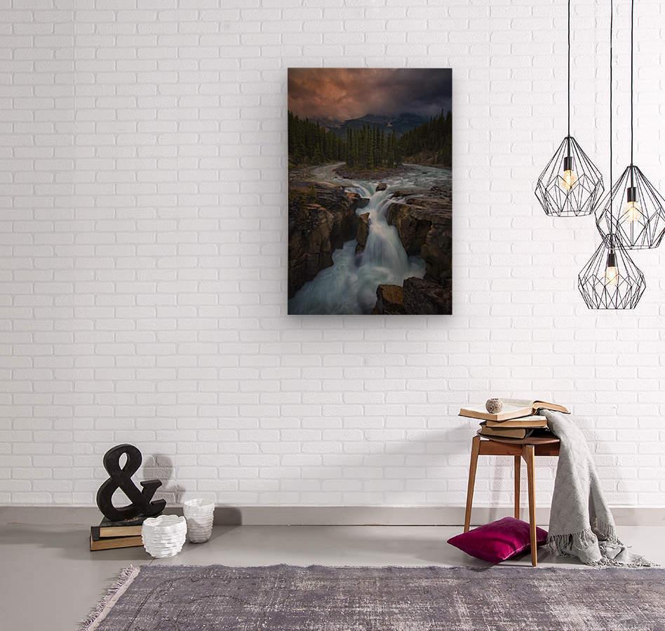 Sunwapta Falls  Wood print