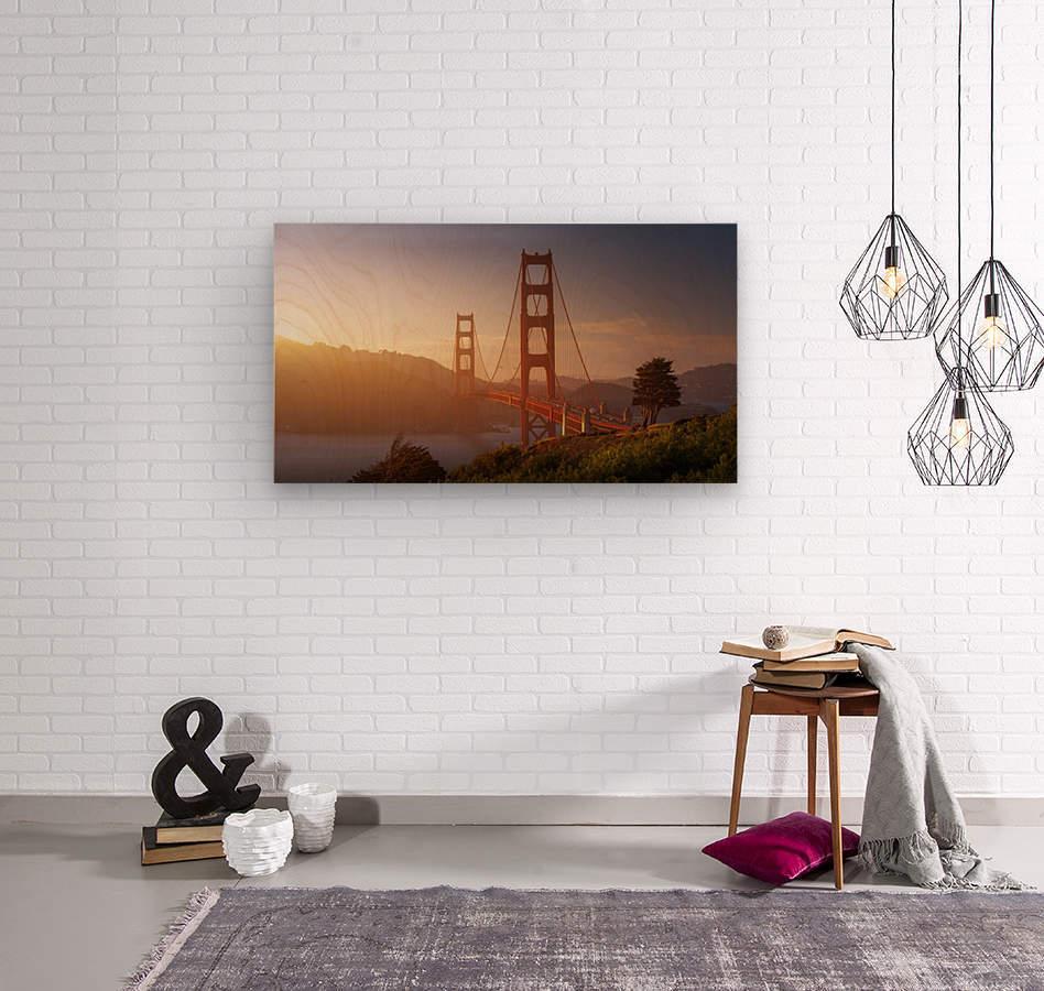 South Golden Gate.  Wood print
