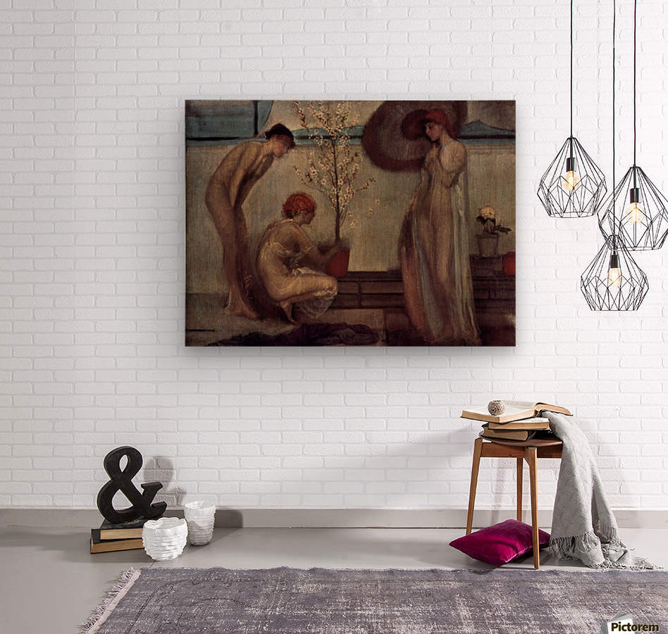 Life angel-1-by Giovanni Segantini  Wood print