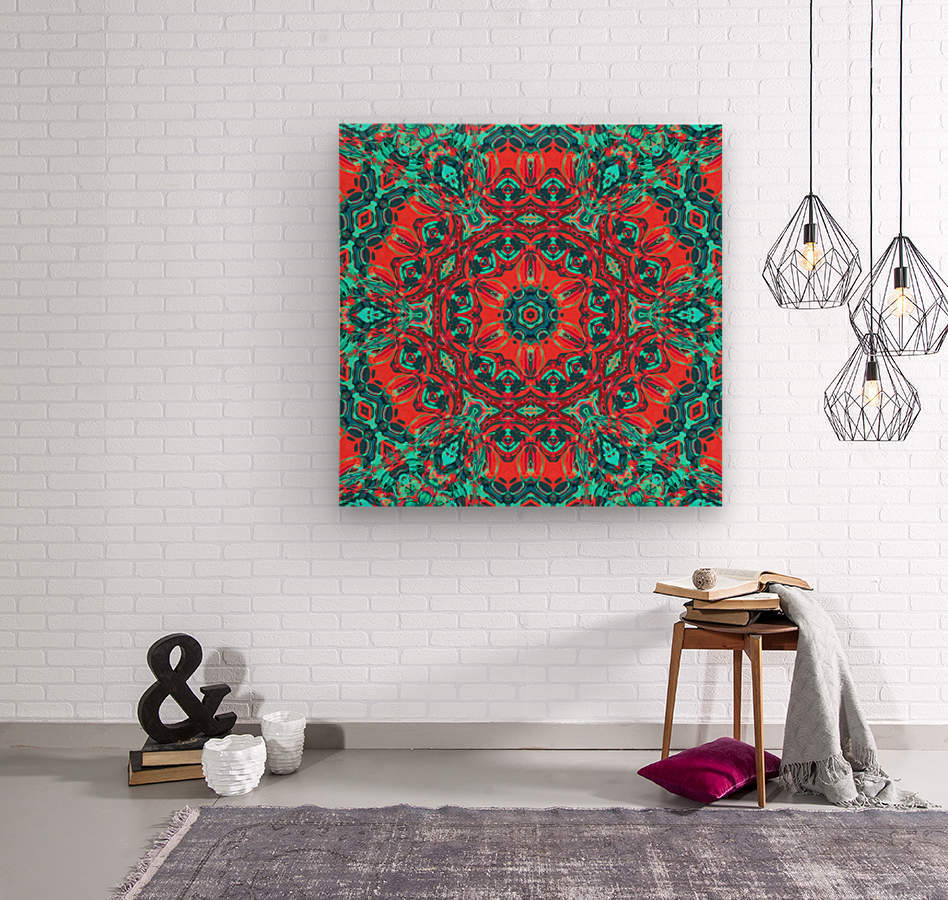 Wild Nature mandala  Wood print