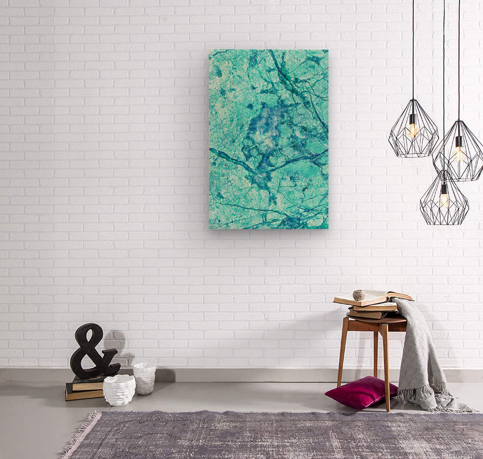 Turquoise Marble  Wood print