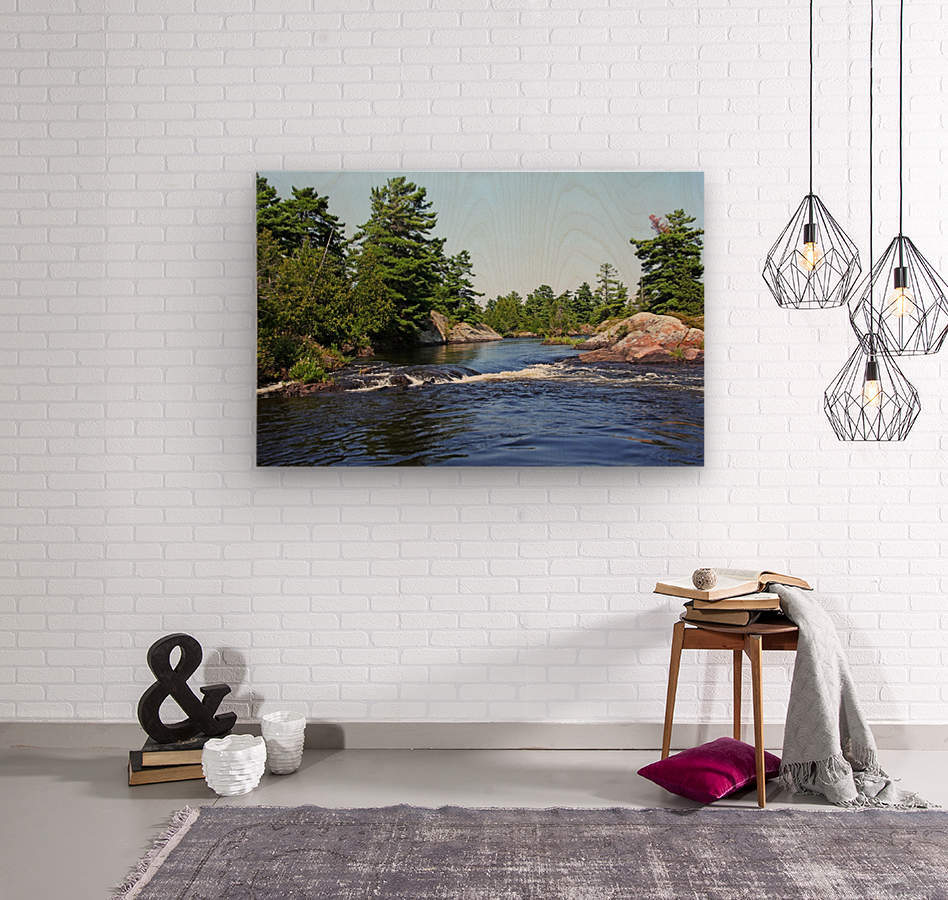 Lovers Rapids Lower French River  Wood print