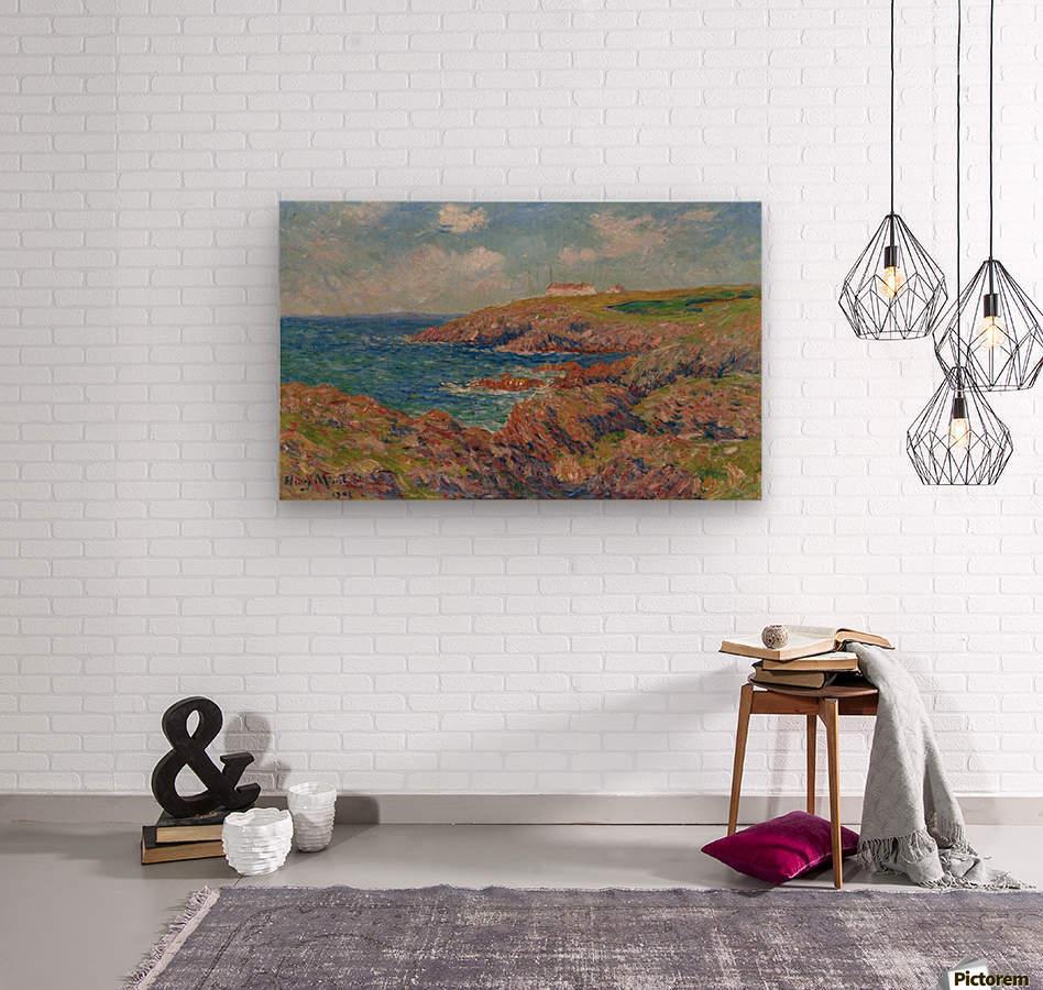 The Semaphore, Cote de Bretagne  Wood print