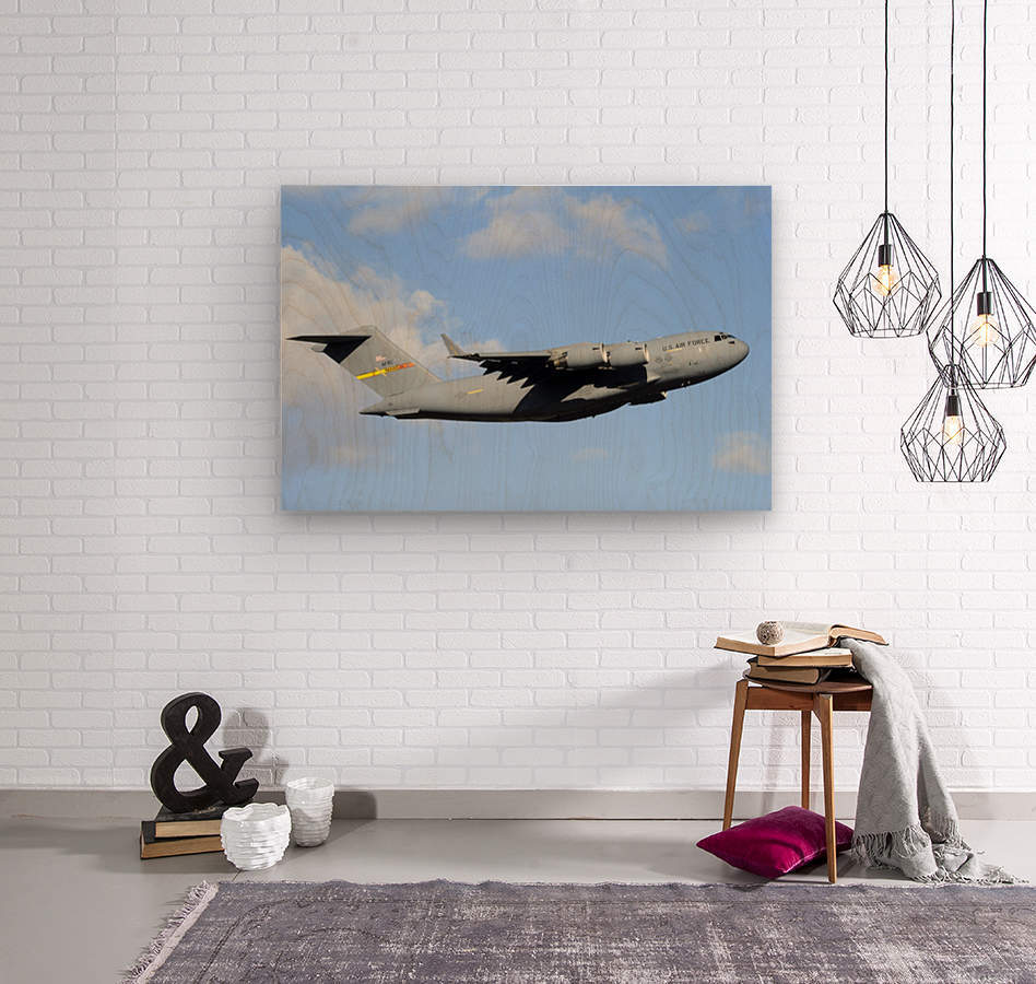 A C-17 Globemaster III  Wood print
