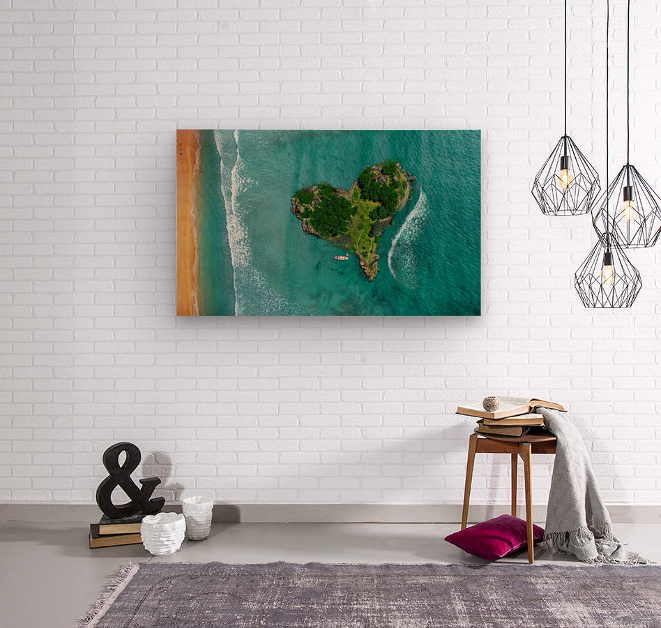 LOVE ISLAND  Wood print