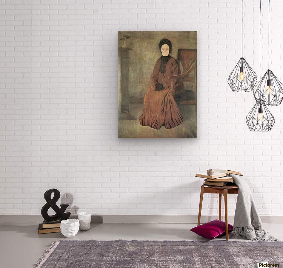 My grandmother by Joseph Rippl-Ronai  Wood print