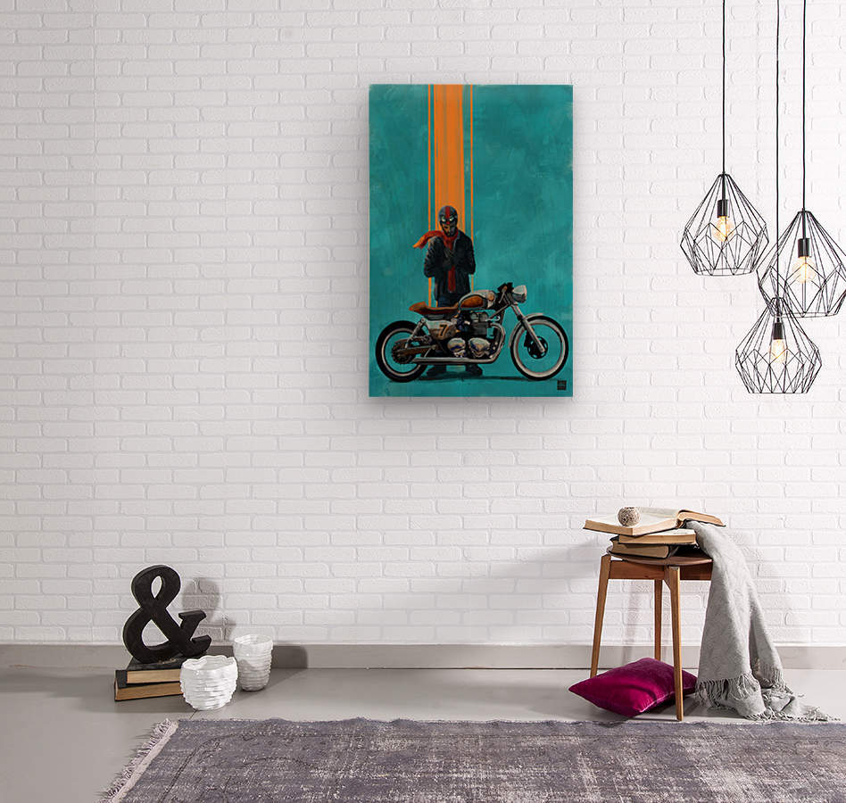 caferacer  Wood print