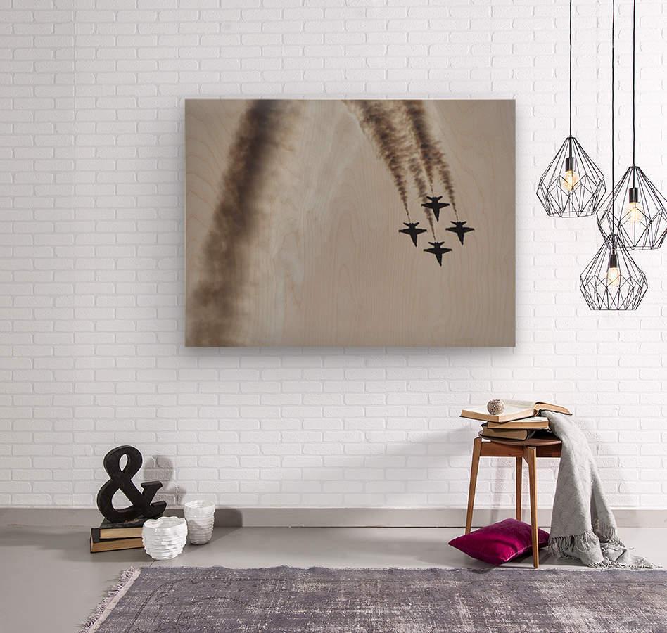 Flyovers  Wood print